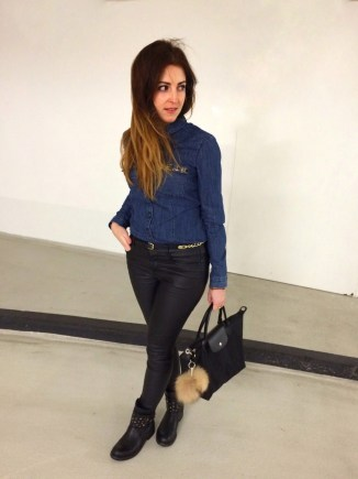 Outfit: Jeansbluse