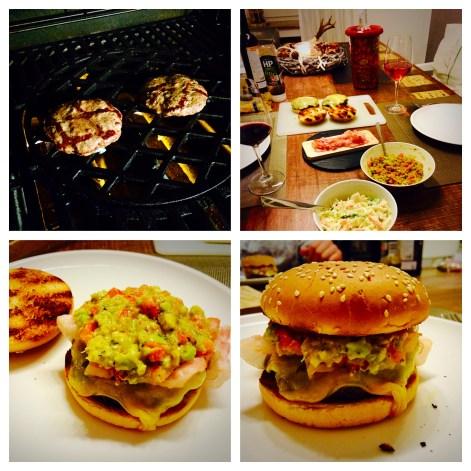Cheeseburger mit Guacamole