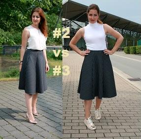 1 Teil 5 Outfits: Der Midirock #2 und #3