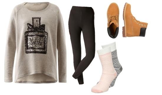 Sweater Leggings Boots Winter