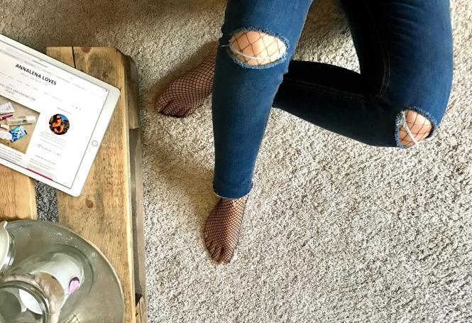 Strumpfhosen unter Jeans? Ja! Und zwar so! - Annalena Loves