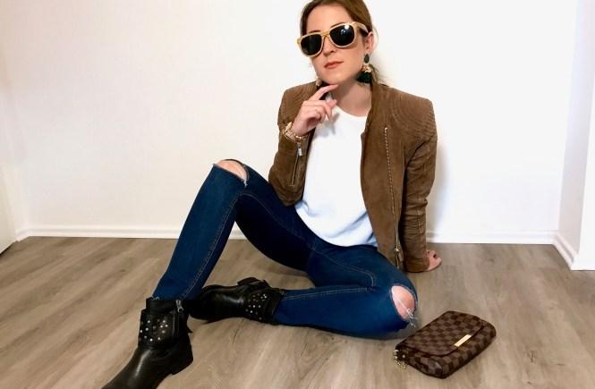 perfekte Lederjacke für den Herbst Annalena Loves