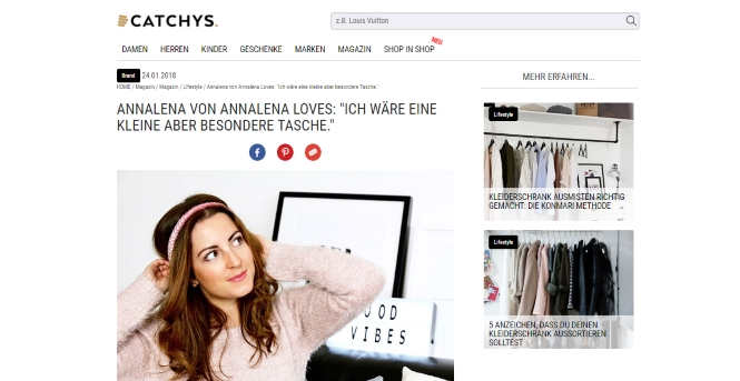 Annalena Loves im Interview bei Catchys