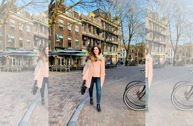 Basics Fruehling Modeblog Outfit Mantel Rosa