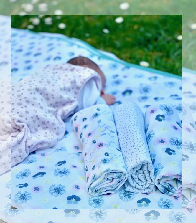 Babyerstausstattung windeln Mulltuch Mullwindeln