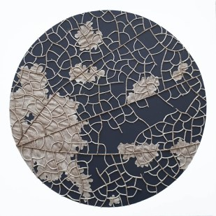 n°13, 2019 - spago, lino e acrilico su tela - 50 x 50 cm
