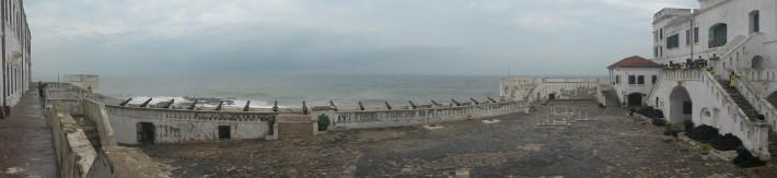 Panoramic view inside Cape Coast castle