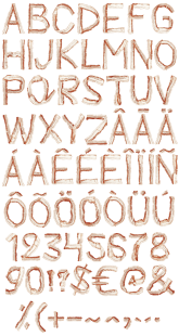 Bacon-font-alphabet-595x1119