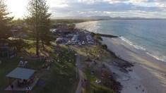 Main Beach alla sera (Immagine estratta da una ripresa aerea con drone. Video e Foto: Simone Chiesa)