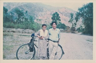 Sharada Shrestha and Khusiram Pakhrin, Shaktikhor, Chitwan, April, 1997.