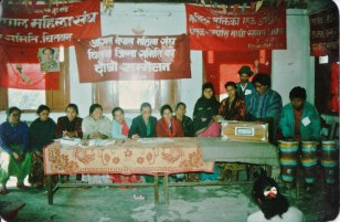 All Nepal Women's Organization, 2nd District Conference, Chitwan, 1995.