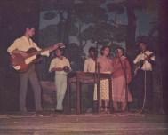 Unidentified cultural group performing in Kathmandu