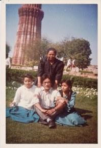 Jabalpur, 1986. Bina Sharma, Hemu Thapa, Khusiram Pakhrin, Sharada Shrestha.