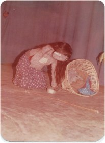 "Chunu Gurung in opera ""Aamako Mutu"" (A Mother's Heart), 1993."