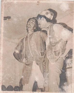 Khusiram Pakhrin and Bal Bir Rana, comedy routine, 1976.