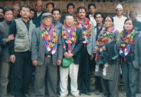 Khusiram Pakhrin with other MP's, 2008.