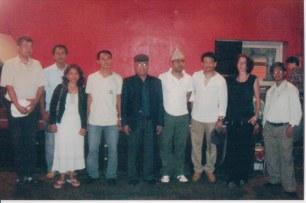 Khusiram Pakhrin and friends, München, Germany, 2009.