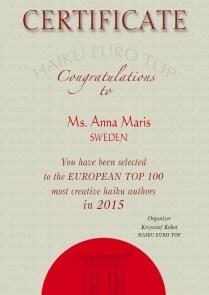 2015_Certificate_Ms.Anna Maris_HAIKU TOP