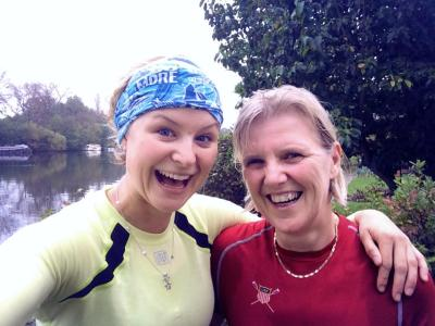 Every Tuesday I run 15 miles to work, and Mum joins me for 90 minutes of it. Mums rock.