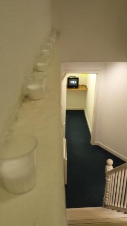 Leading to the ground floor