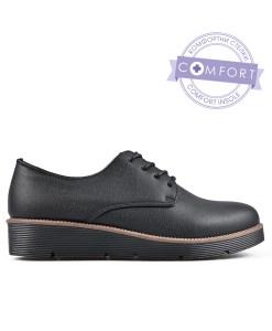 Дамски обувки 086-1 черни с връзки