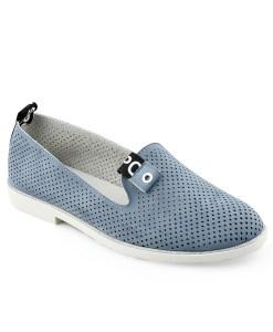 Дамски обувки 086-66 сини на дупки