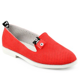 Дамски обувки 086-67 червени на дупки