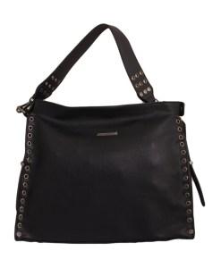Дамска чанта 01-17-163-52 малка с капси цвят черен
