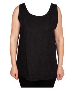 Дамска блуза 0019-564-60 с бродерия цвят черен