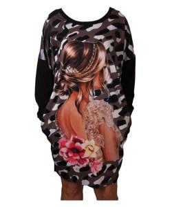 Дамска рокля 017-200-4 с красиво момиче
