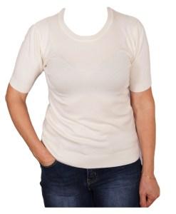 Дамски пуловер 2-397-10 цвят бял