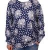 Дамски пуловер XL 2-399-4 на цветя цвят син