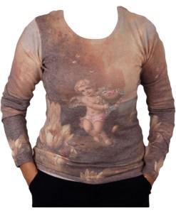 Дамски пуловер 2-393-91 цвят кафяв