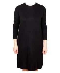 Дамска рокля 017-197-1 цвят черен