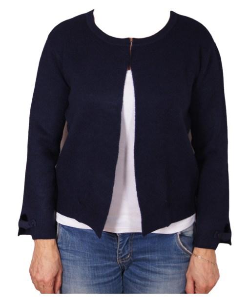 Дамска жилетка 20-100-91 цвят тъмно син