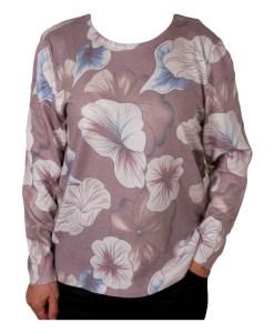Дамски пуловер 2-399-1 с нежни цветя
