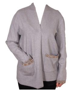 Дамска жилетка 20-102-2 цвят сив