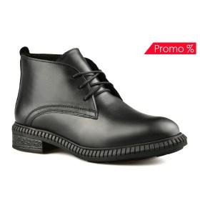 Дамски обувки естествена кожа 08-180-3 цвят черен