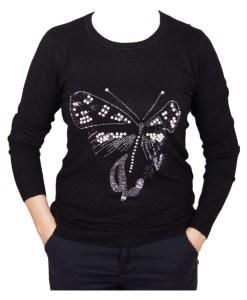 Дамски пуловер 2-390-6 цвят черен