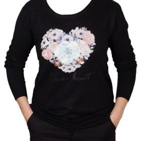 Дамски пуловер 2-390-72 цвят черен