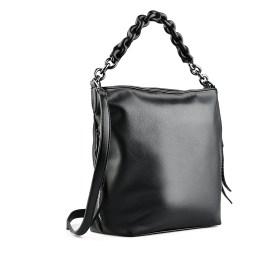 Дамска чанта 002-699-1 цвят черен