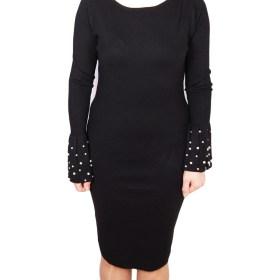Дамска рокля 017-196-70 цвят черен