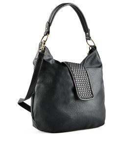 Дамска чанта 002-699-60 цвят черен Спортно-елегантна дамска чанта . Едноцветна, стилна и модерна. Дамската чанта има широка, декоративна каишка. От вътре има джоб с цип и място за два телефона. Мека кожа.. Дамската чанта е необходимия аксесоар на всяка жена. Изработена от еко кожа.