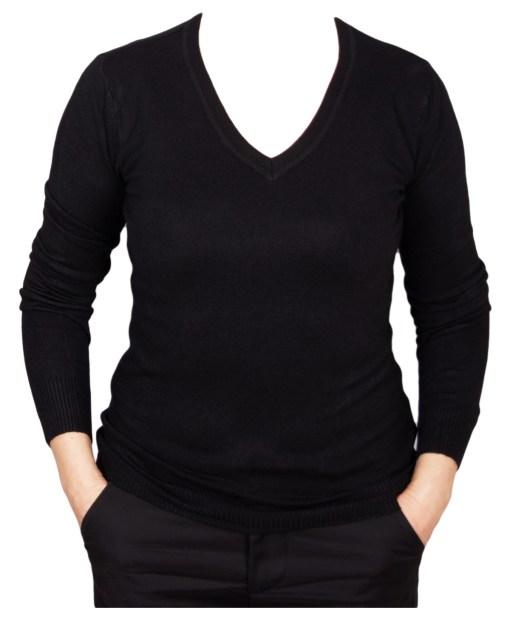 Дамски пуловер 2-387-4 цвят черен