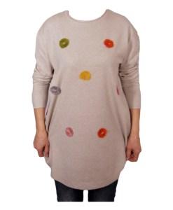Дамски пуловер XL 2-391-4 цвят бежов