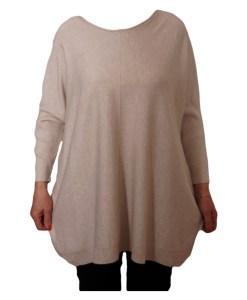 Дамски пуловер XL 2-393-4 цвят бежов