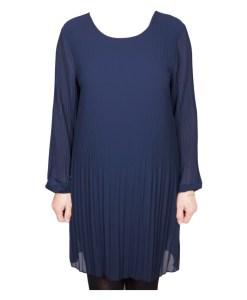 Дамска рокля XL 18-190-5 цвят син