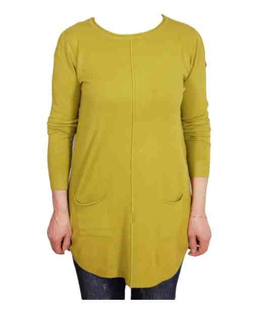 Дамски пуловер 2-384-6 цвят шрек