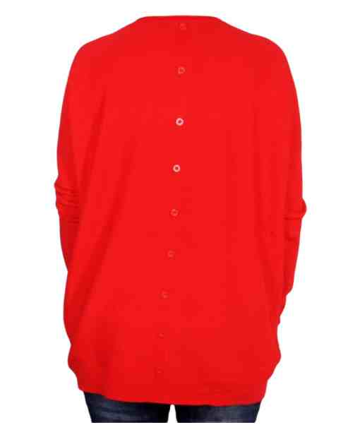 Дамски пуловер XL 2-390-1 цвят червен