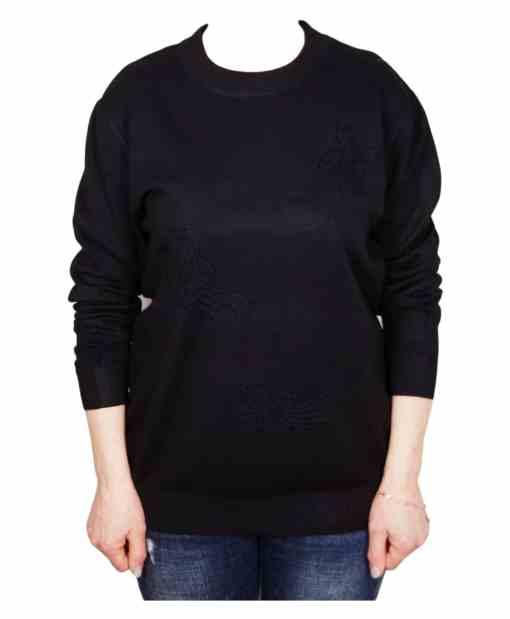 Дамски пуловер XL 2-391-2 цвят черен